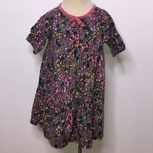Hanna Andersson girls Tiered berry print dress 85